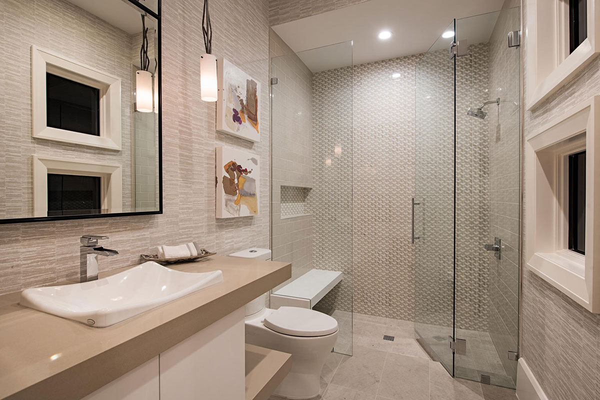 Aqualane Shores Contemporary Guest Bath