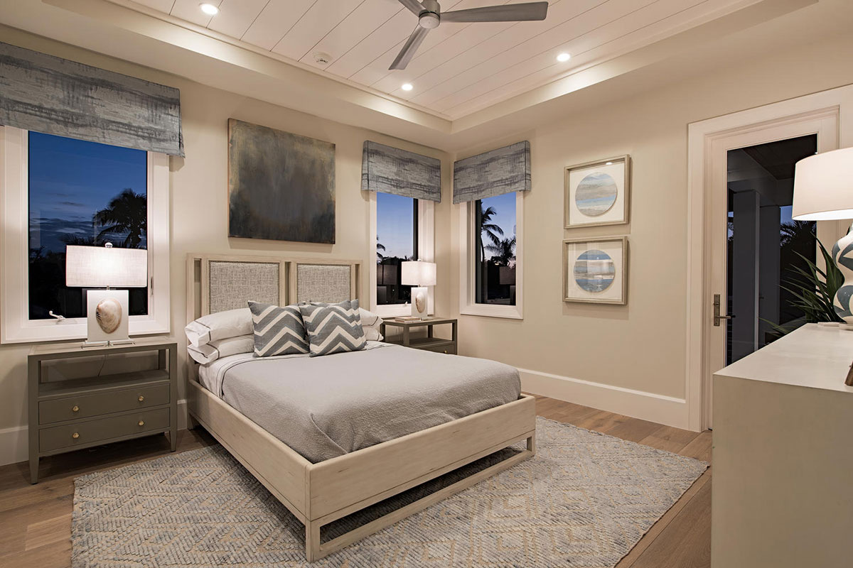 Aqualane Shores Contemporary Guest Bedroom