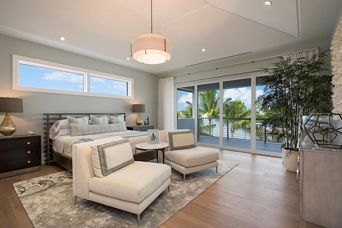 Aqualane Shores Contemporary Master Bedroom