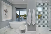Aqualane Shores Contemporary Master Bath