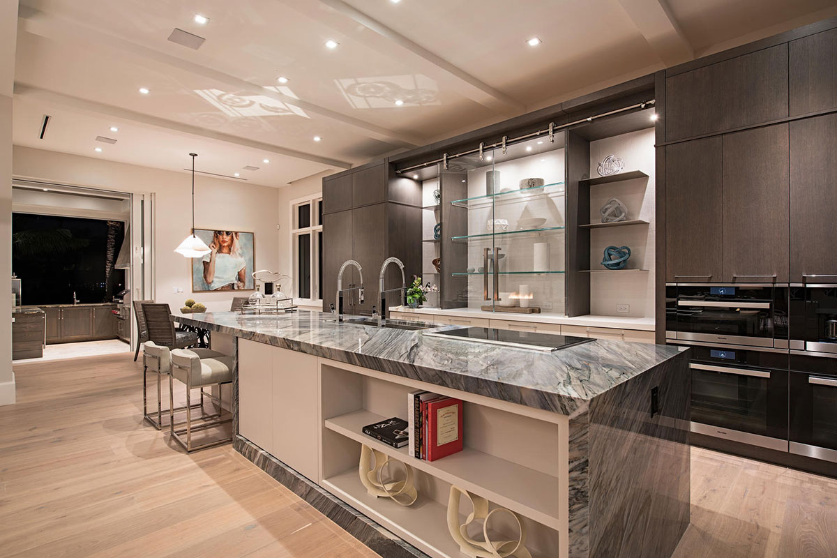 Aqualane Shores Contemporary Kitchen