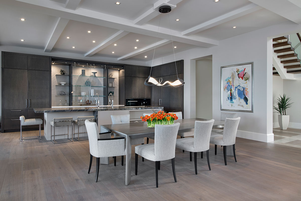 Aqualane Shores Contemporary Dining Room