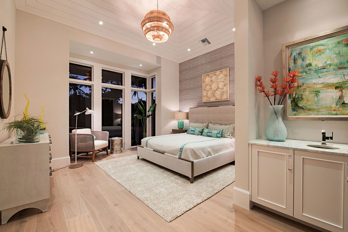 Aqualane Shores Contemporary Bedroom