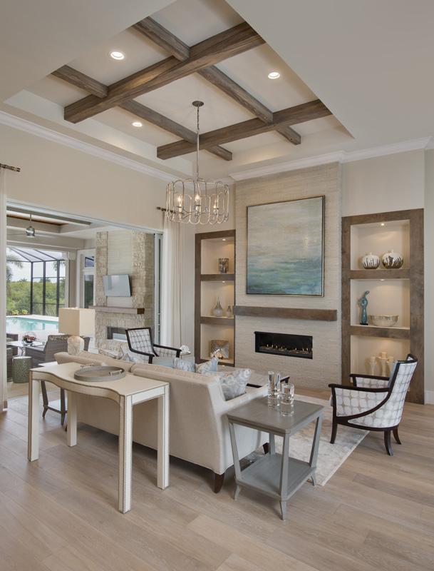 Bonita Bay Coastal Transitional Living Room