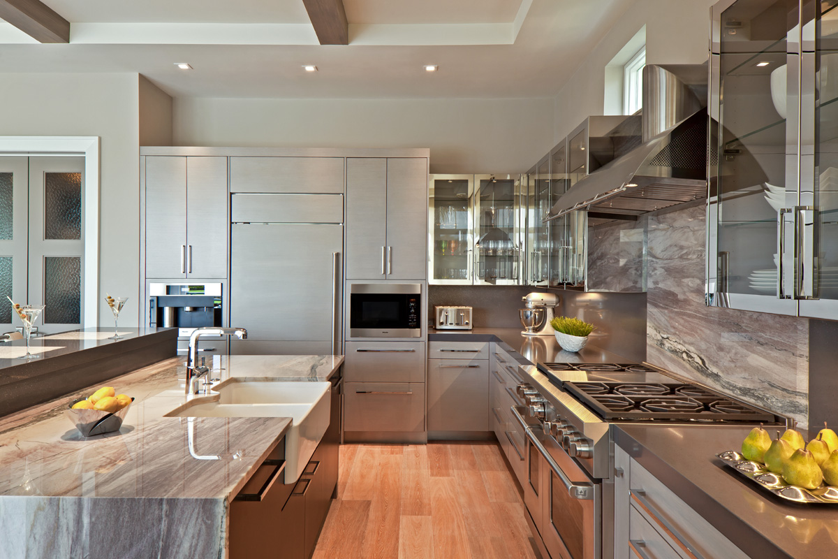 Classic Contemporary Open Concept Kitchen