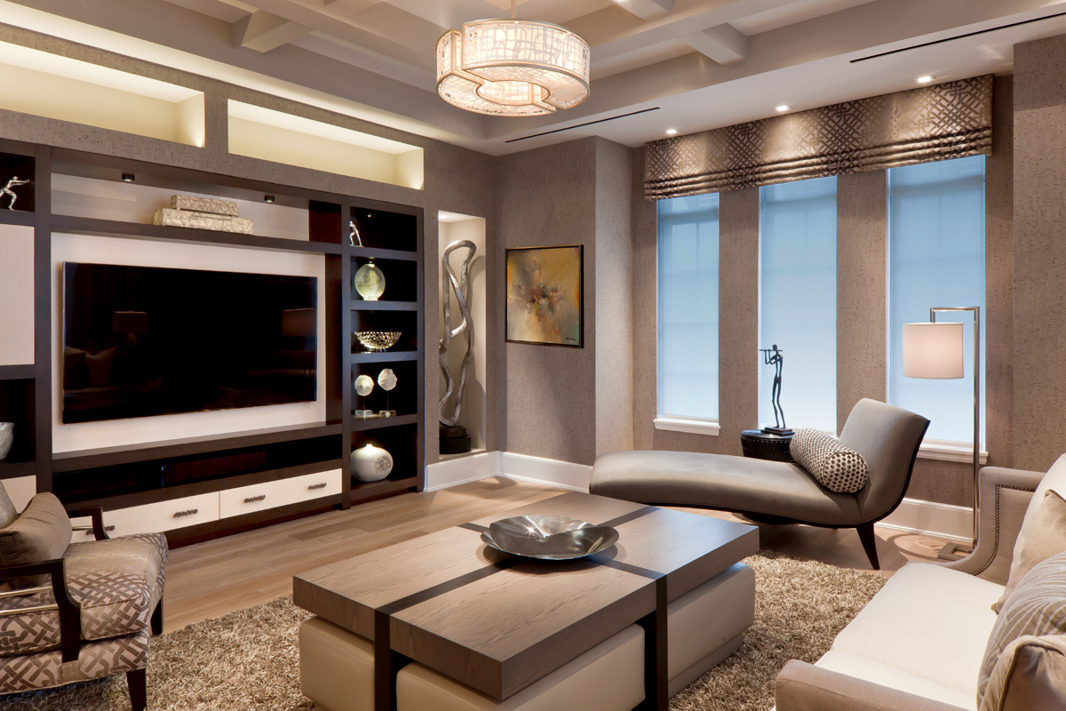 Classic Contemporary Family Room
