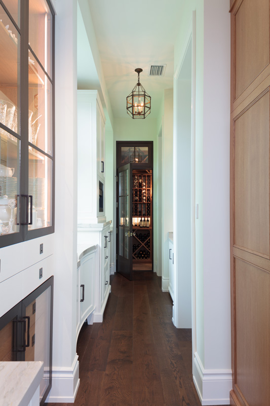 Old Naples Transitional Butlers Pantry