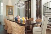 Old Naples Transitional Dining Room