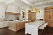 Old Naples Transitional Open Concept Kitchen