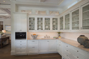 Coastal Traditional Open Concept Kitchen
